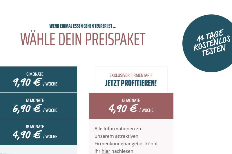 Screenshot Preispakete